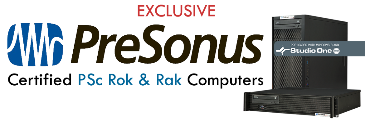 PCAudioLabs PSc Rok:Rak PC certified by PreSonus