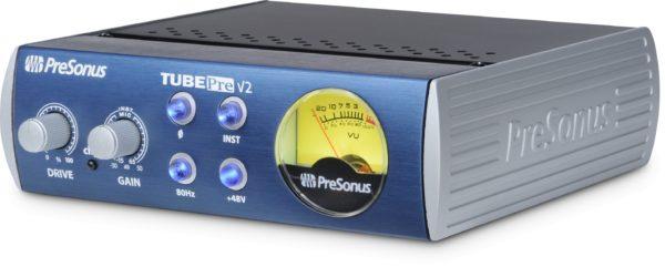 PreSonus TubePre V2 1 Channel Tube Preamplifier/DI Box Side