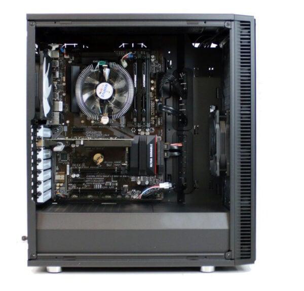 PCAudioLabs MC X Pro Audio PC Mid Tower Case - Open