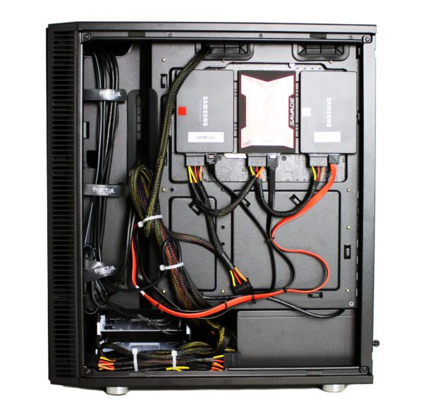 PCAudioLabs Rok Box MC series pro audio PC - Black Mid Tower Case - Right Side Open