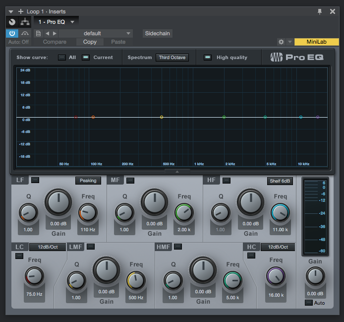 How to use the Pro EQ plugin in Studio One 4 - PCAudioLabs