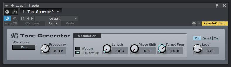 How to use Tone Generator Plugin in PreSonus Studio One 4