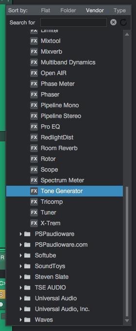 How to use Tone Generator Plugin in PreSonus Studio One 4 - PCAudioLabs