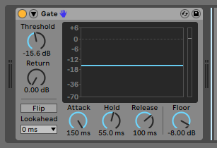 How to use the Ableton GATE audio effect - PCAudioLabs