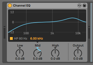 How to use the Ableton Live CHANNEL EQ audio effect