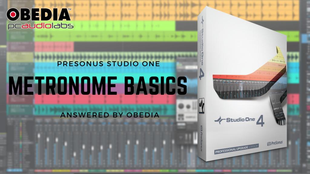 Metronome basics in PreSonus Studio One