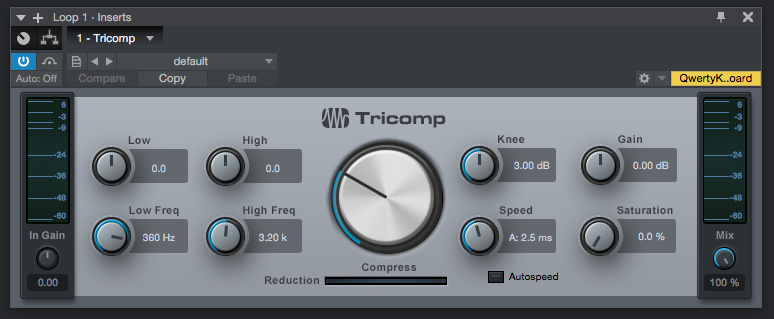 How to use PreSonus Tricomp in Studio One 4