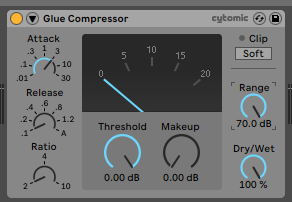 How to use the Ableton Live GLUE COMPRESSOR audio effect