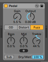 How to use the Ableton Live PEDAL audio effect
