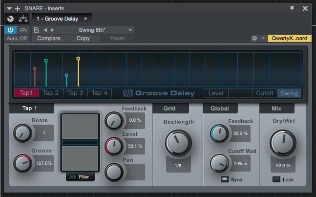 How to use Groove Delay in Studio One