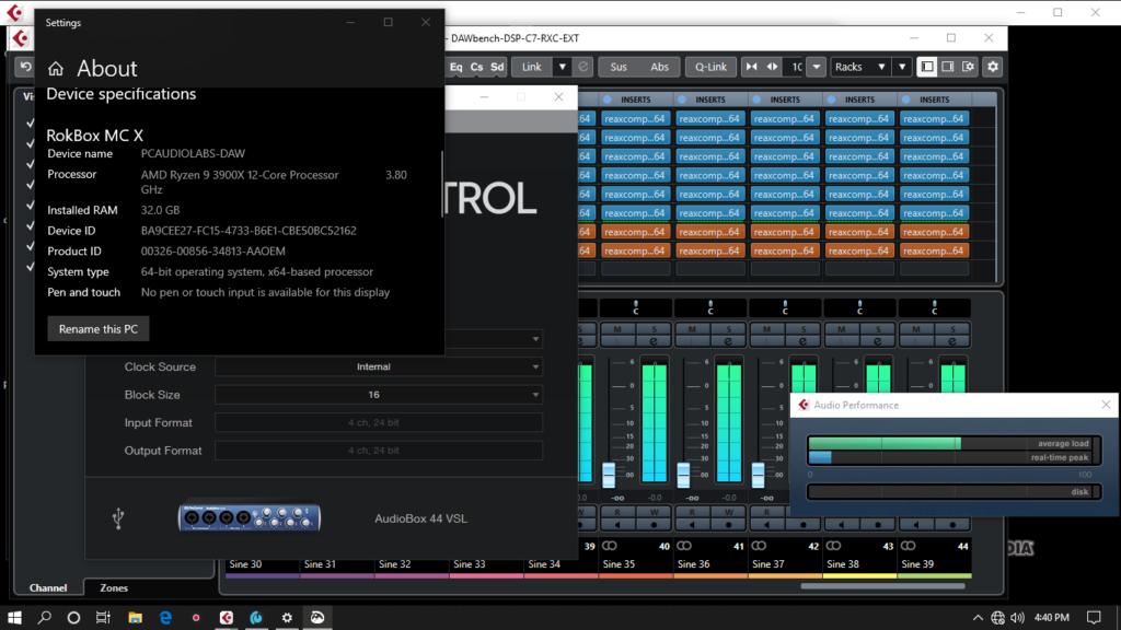 AMD Ryzen 3900X Pro Audio Benchmarks