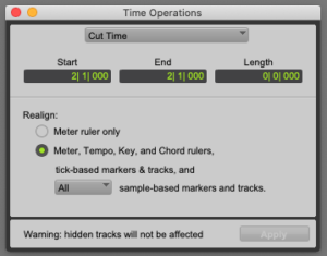 Cut Time in Pro Tools